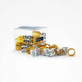 CRAZY RINGS SILVER & GOLD 18 U.